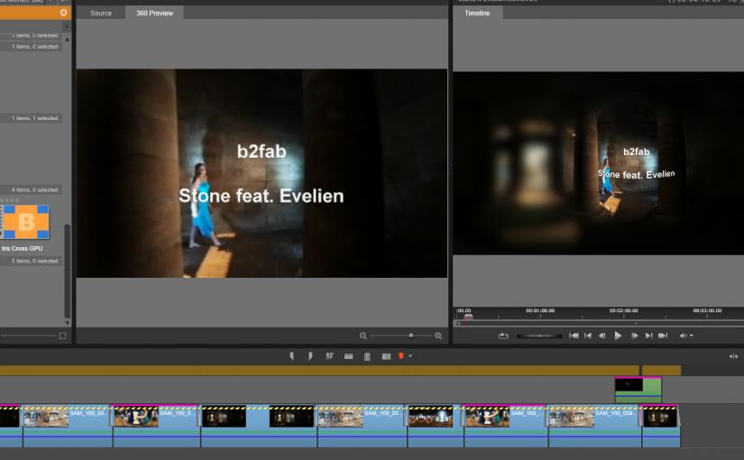 Editing VR 360 video